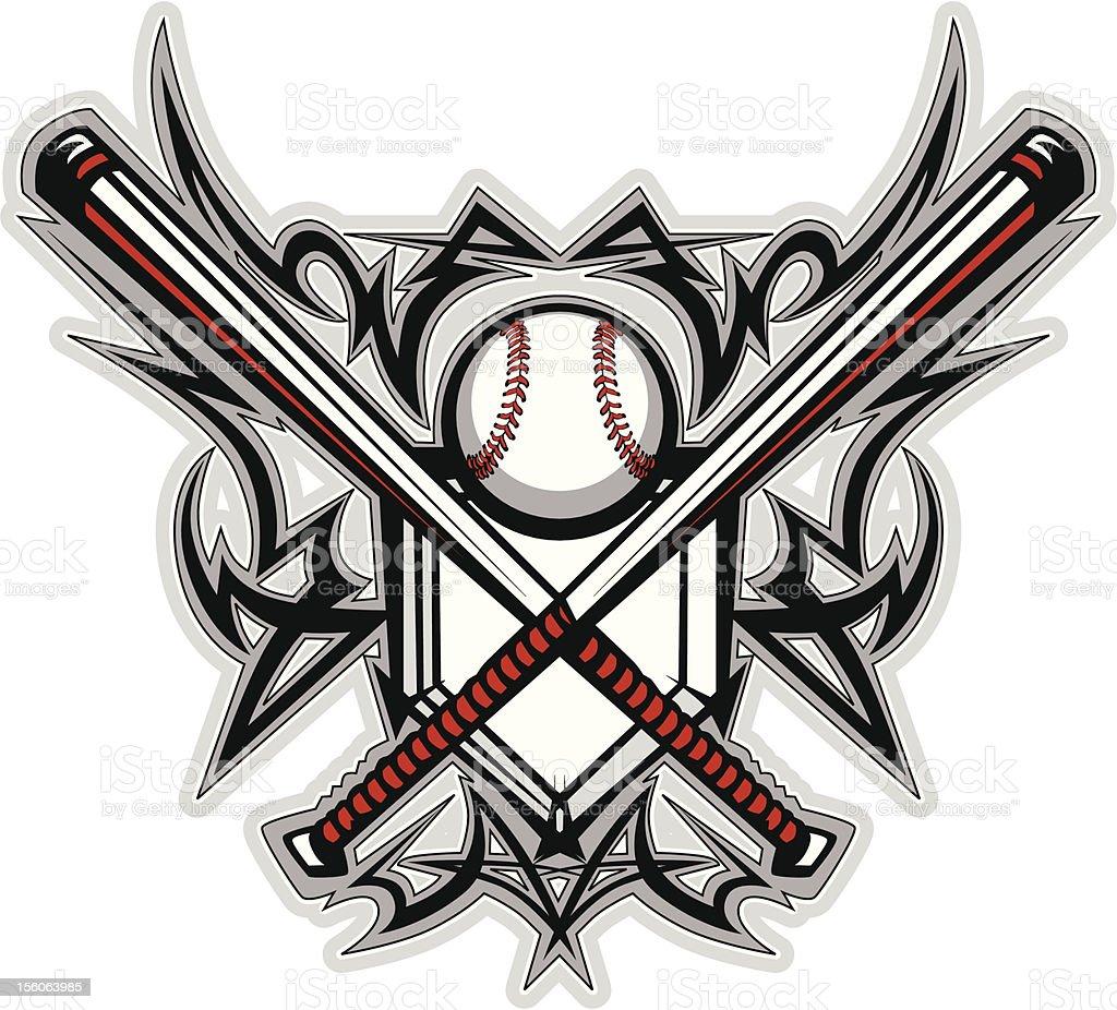 Baseball Softball Bats Tribal Graphic Vector Image Stock ...