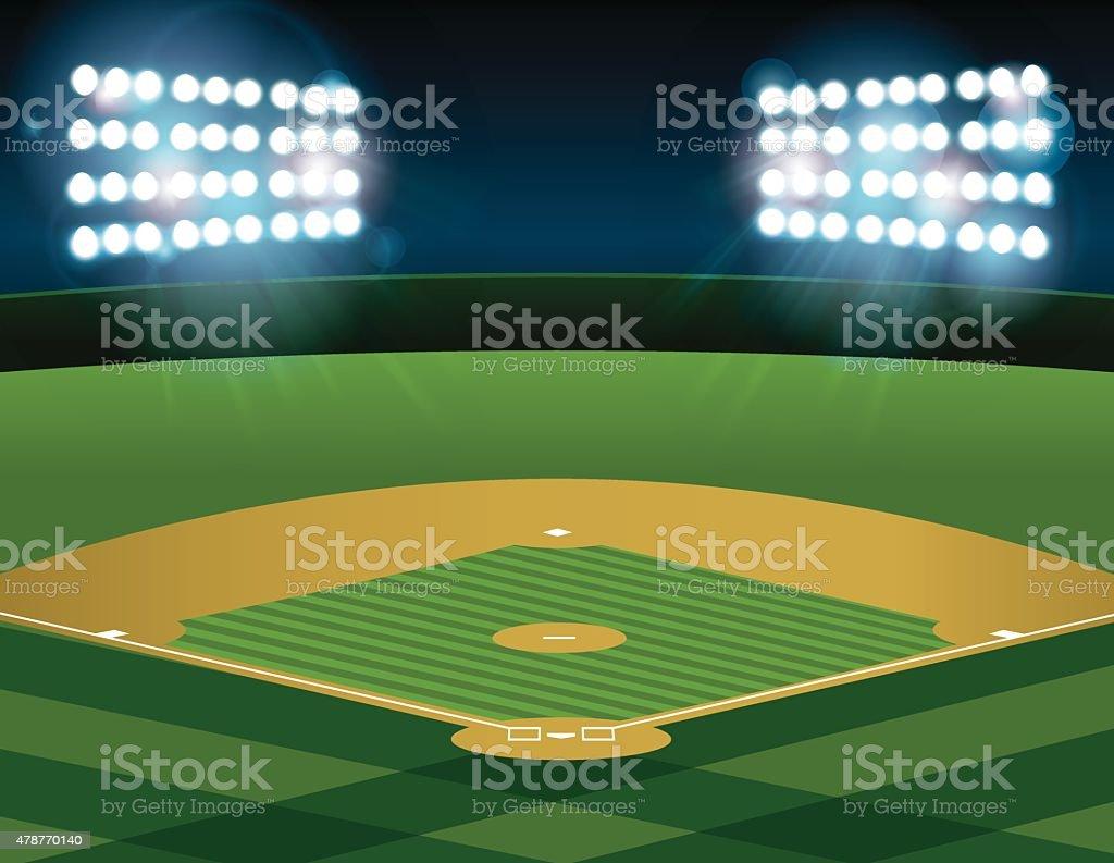 royalty free baseball stadium clip art vector images rh istockphoto com Stadium Clip Art baseball stadium lights clipart