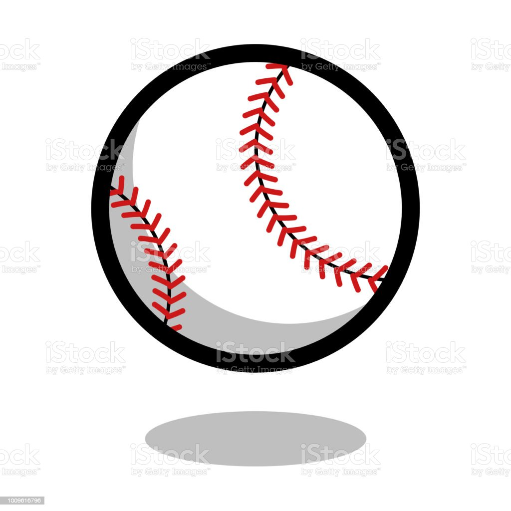 Baseball softball sport ball logo vector line 3d icon