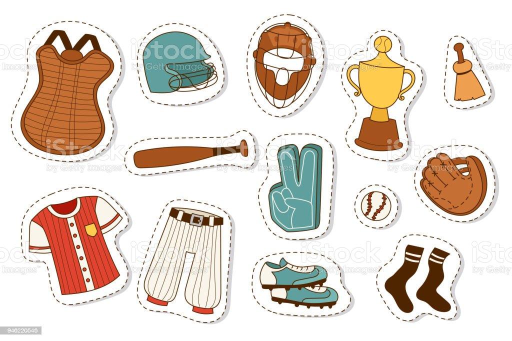 Ilustración de Béisbol Deporte Competición Equipo Juego Símbolo ...