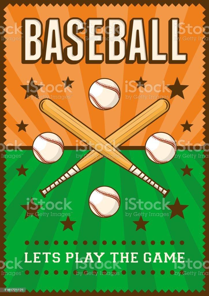 Baseball Sport Retro Pop Art Poster Signage
