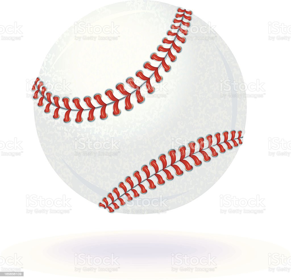 Baseball. Highly rendered illustration of a floating Baseball Sport...