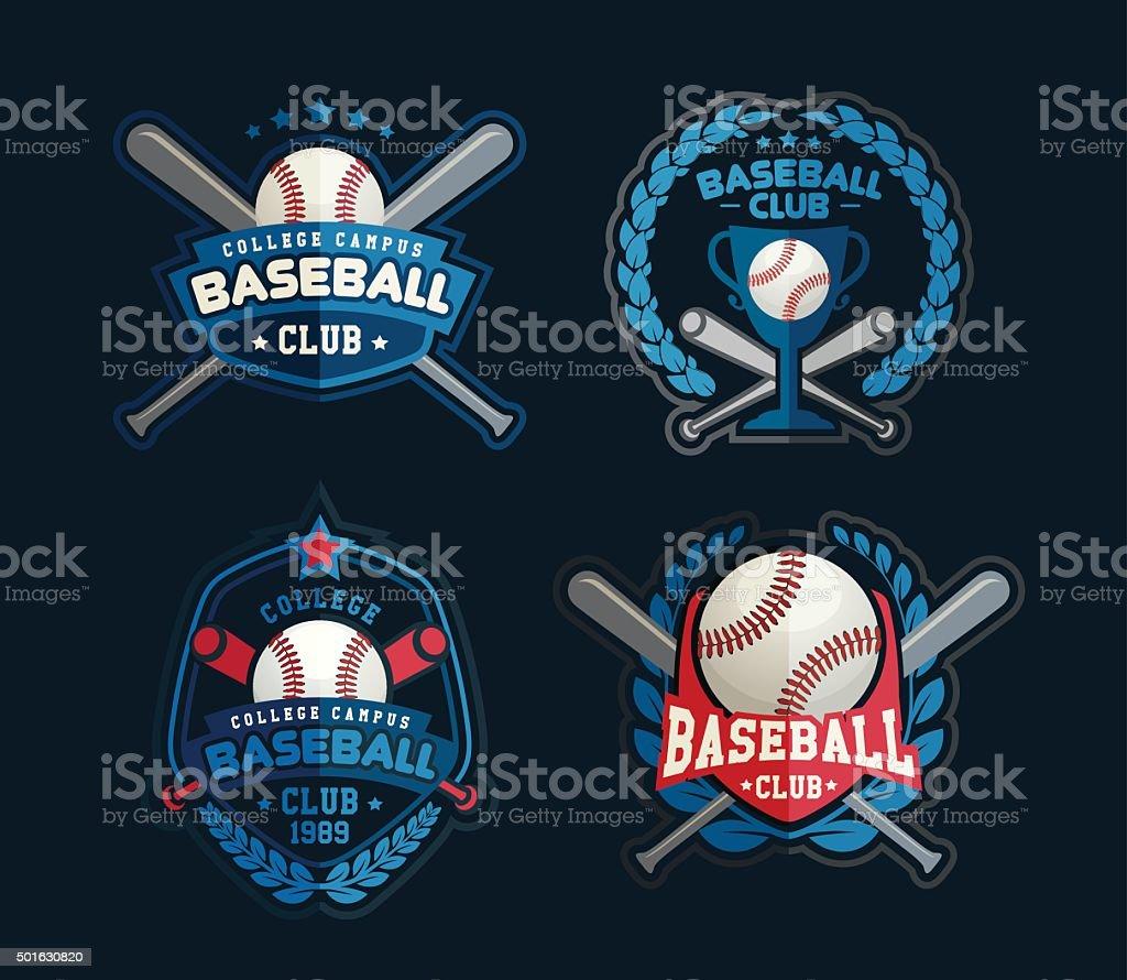 Baseball-Sport-Vorlage mit ball und Schläger – Vektorgrafik