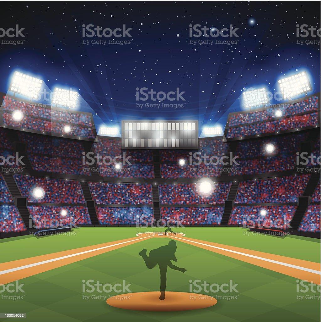 Baseball Stadium vector art illustration