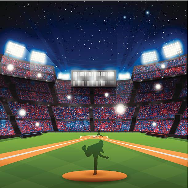 baseball stadium - baseball stadium stock illustrations, clip art, cartoons, & icons