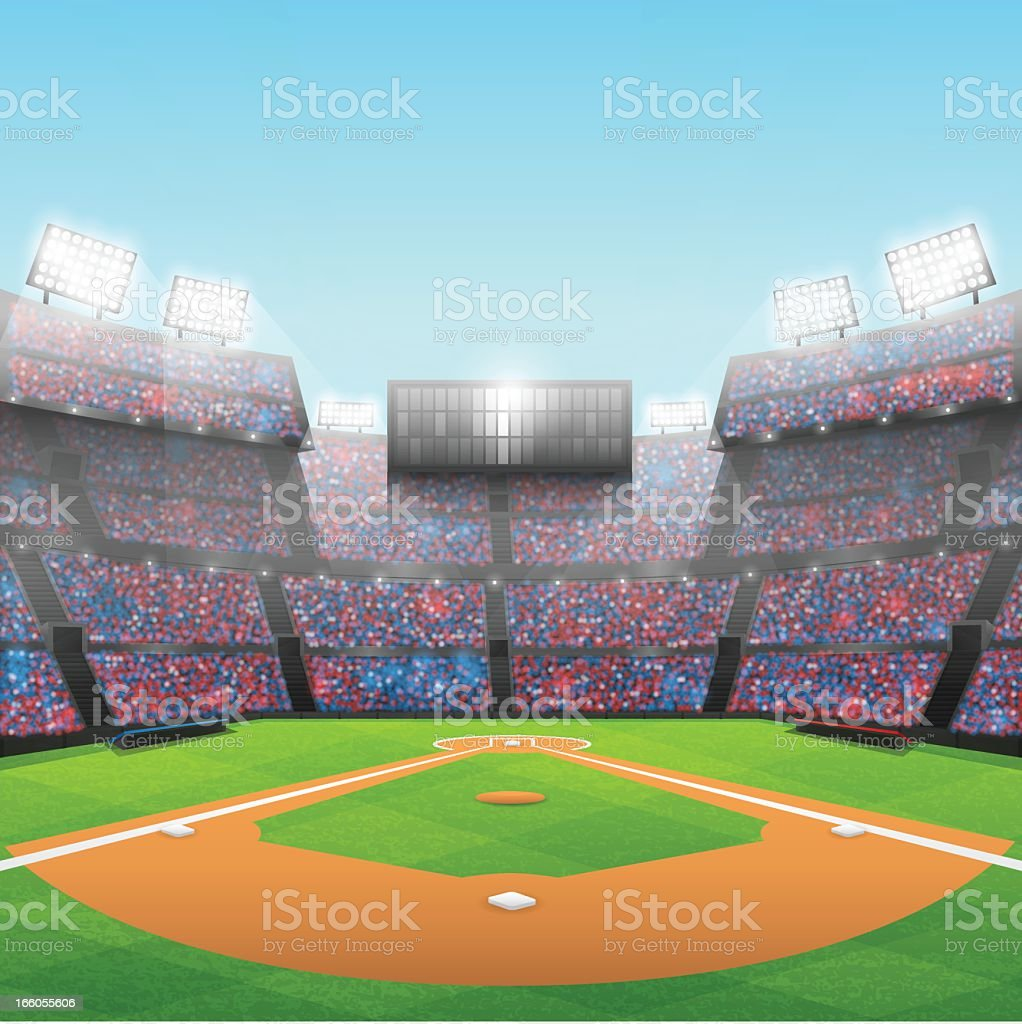 Baseball Stadium royalty-free stock vector art