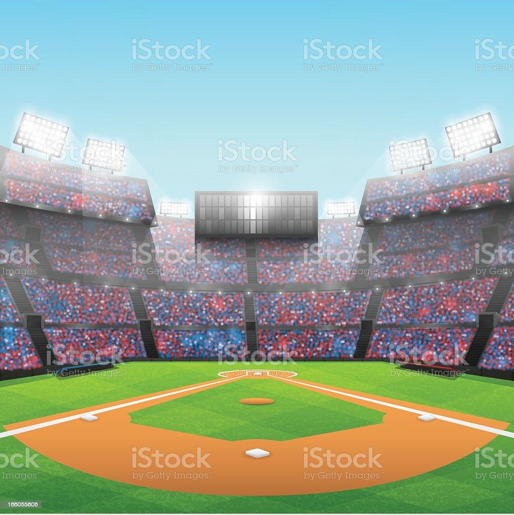 royalty free baseball stadium clip art vector images rh istockphoto com Cartoon Baseball Stadium baseball field clipart black and white