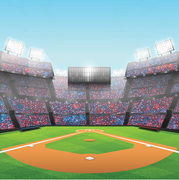 Stade de Baseball - Illustration vectorielle