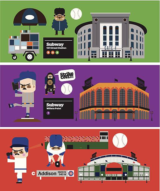 baseball stadium vector - baseball stadium stock illustrations, clip art, cartoons, & icons