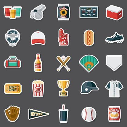 Baseball Sticker Set