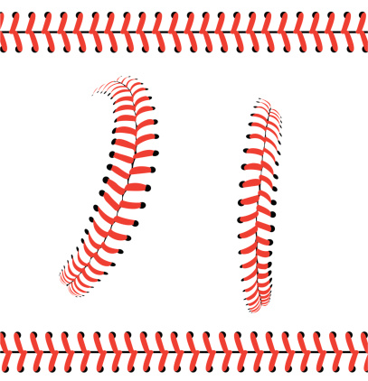 Baseball Stitches or Laces - Graphic Pattern