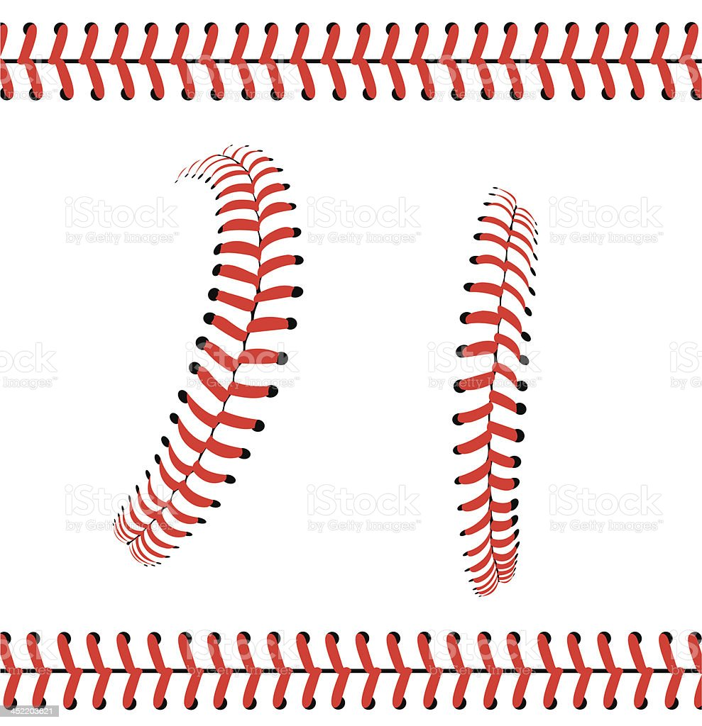 Baseball Stitches or Laces - Graphic Pattern vector art illustration