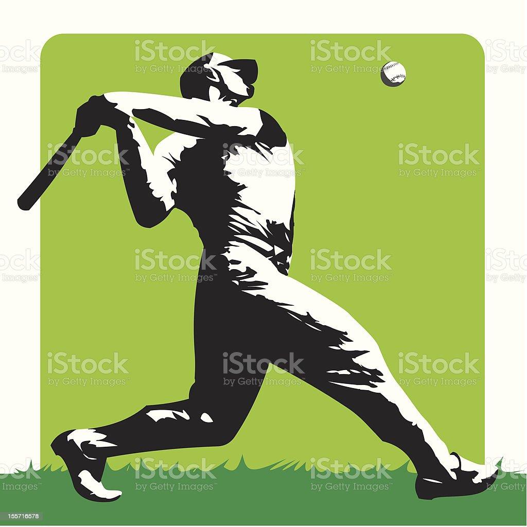 Baseball - Stylized batter vector art illustration