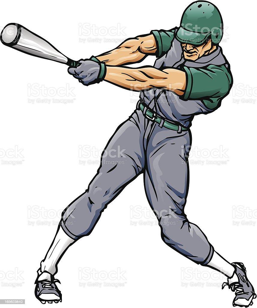 Baseball Swing vector art illustration