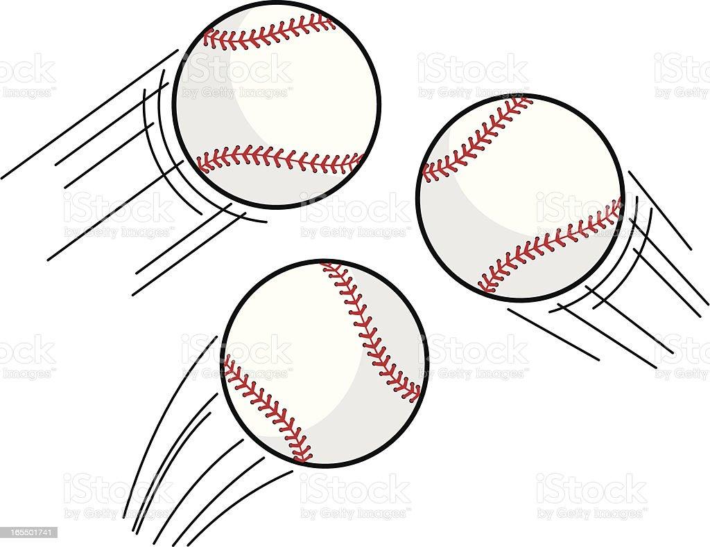 Baseball Swoosh vector art illustration