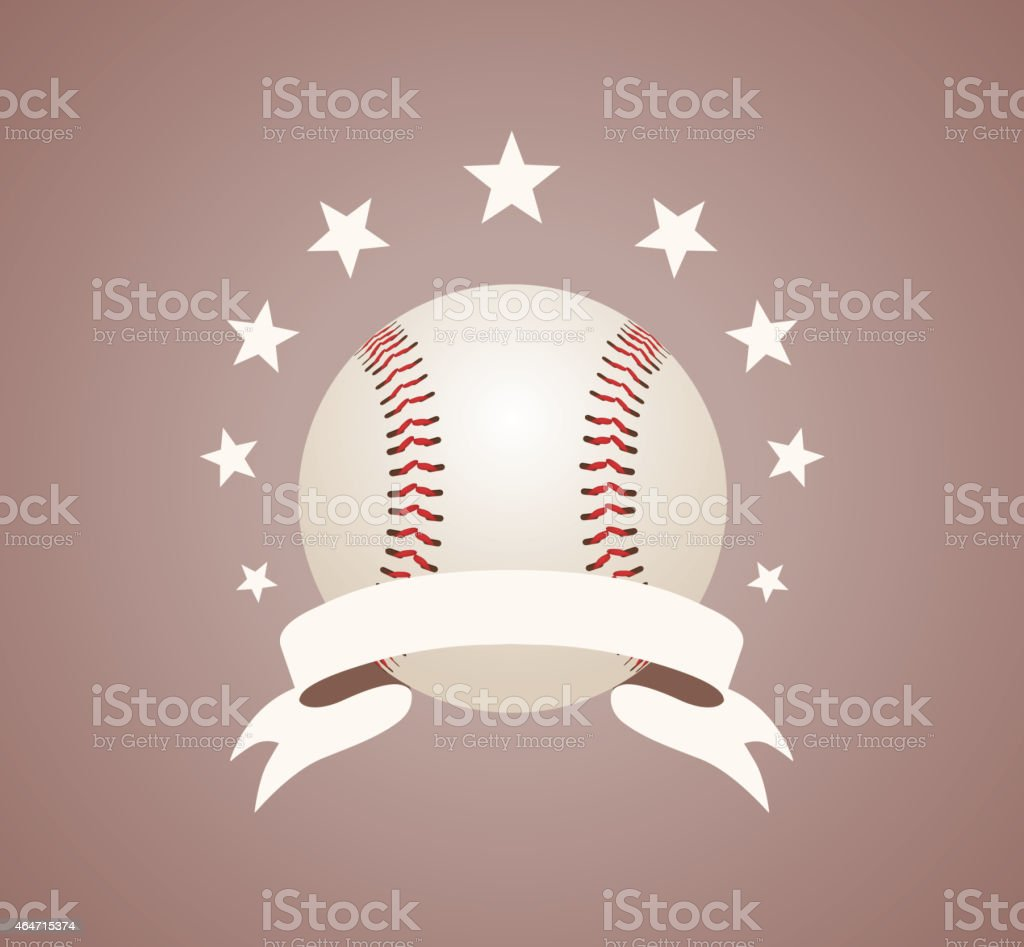 Baseball symbol vector art illustration