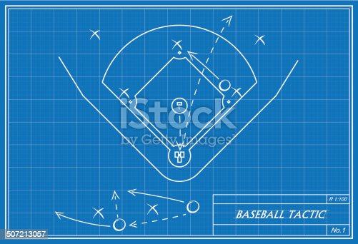 Baseball tactic on blueprint stock vector art more images of baseball tactic on blueprint stock vector art more images of backgrounds 507213057 istock malvernweather Gallery