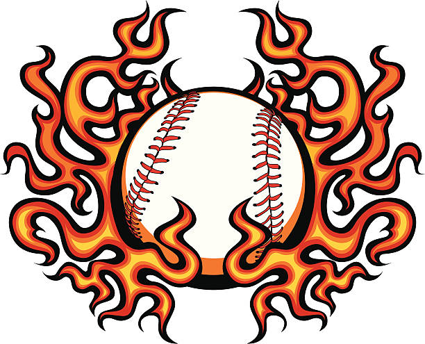 Softball With Flames Png Black And White & Free Softball With Flames Black  And White.png Transparent Images #4708 - PNGio