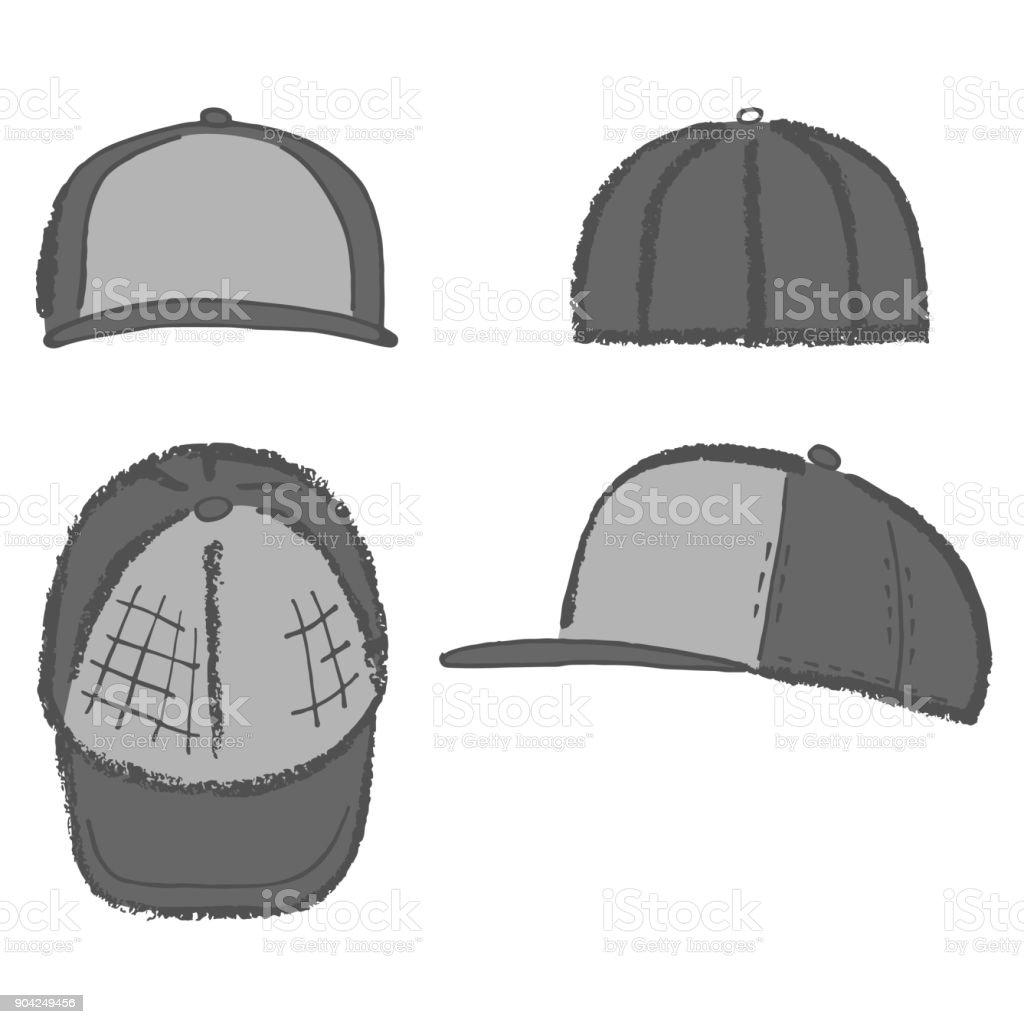 49d47d4a Baseball, tennis, rap cap outlined template royalty-free baseball tennis  rap cap outlined