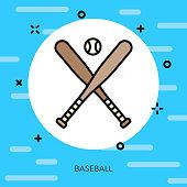 Baseball Thin Line Sports Icon