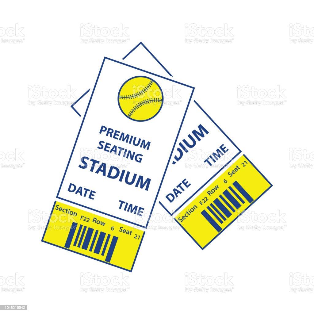 Baseball tickets icon. Thin line design. Vector illustration.