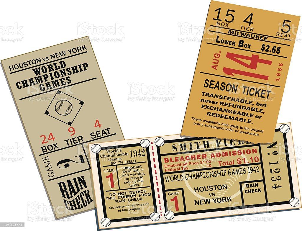 Baseball Tickets vector art illustration