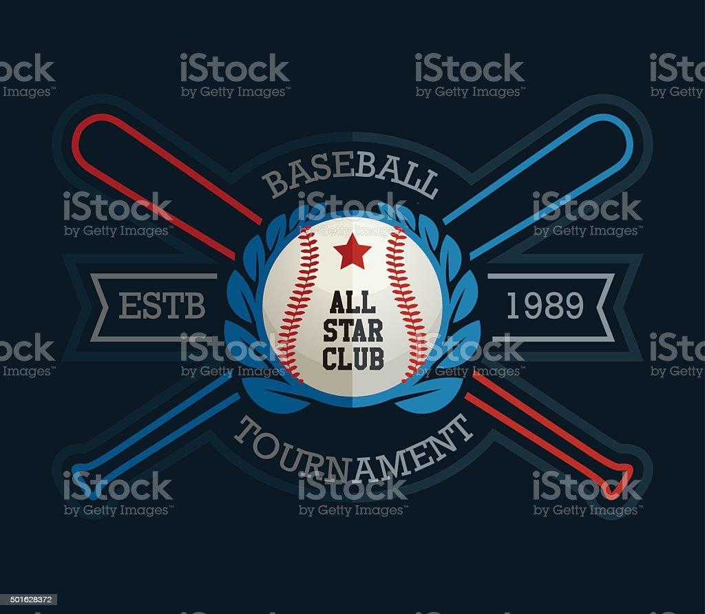 Baseball Tournament All Star vector art illustration