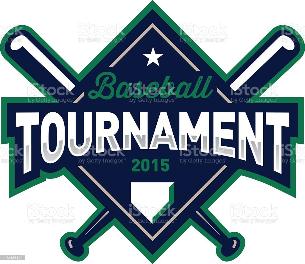 Baseball Tournament Emblem vector art illustration