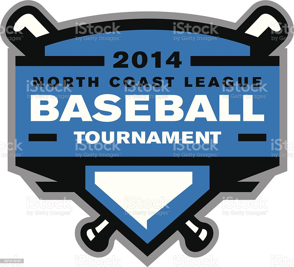 Baseball Tournament Logo vector art illustration