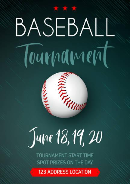 Baseball tournament poster vector art illustration