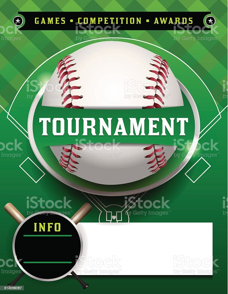 Baseball Tournament Template Illustration vector art illustration