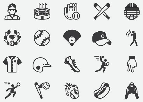 Baseball ,Tournament,Sport,Relaxing,Ball Pixel Perfect Icons