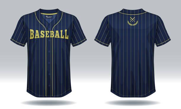 Baseball t-shirt mock up. vector art illustration