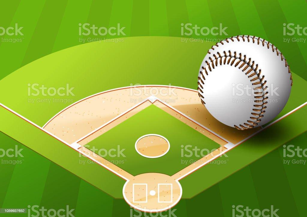 Baseball – Vektorgrafik
