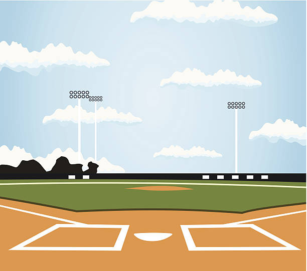baseball - baseball stadium stock illustrations, clip art, cartoons, & icons