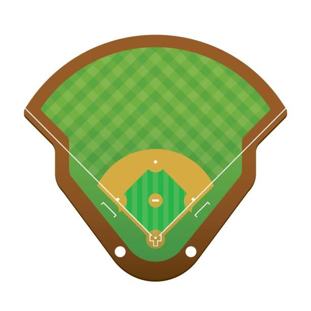 baseball Vector of baseball field background. infield stock illustrations