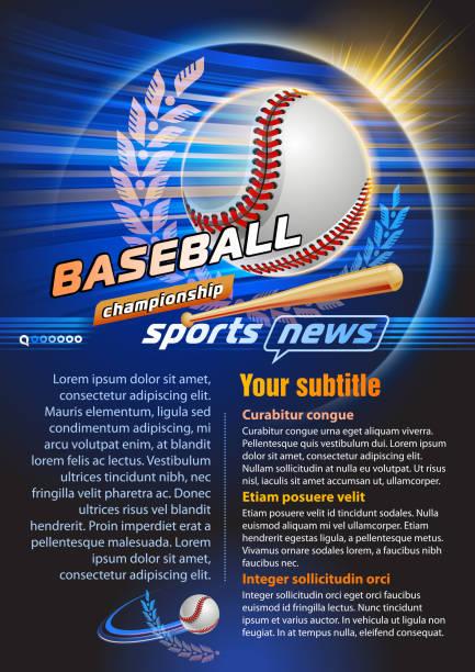 Baseball vector art illustration