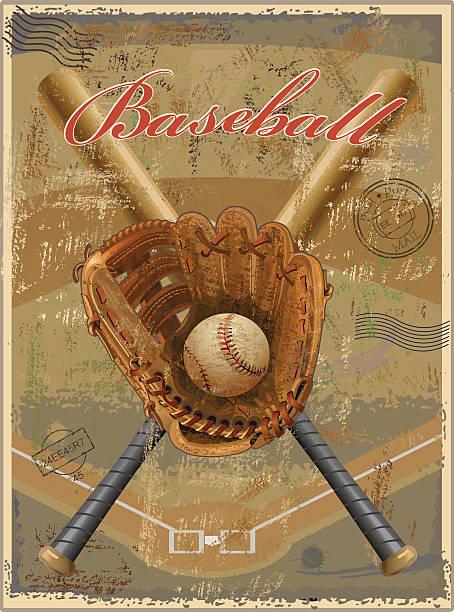 Baseball Vintage Retro Vector Art Illustration