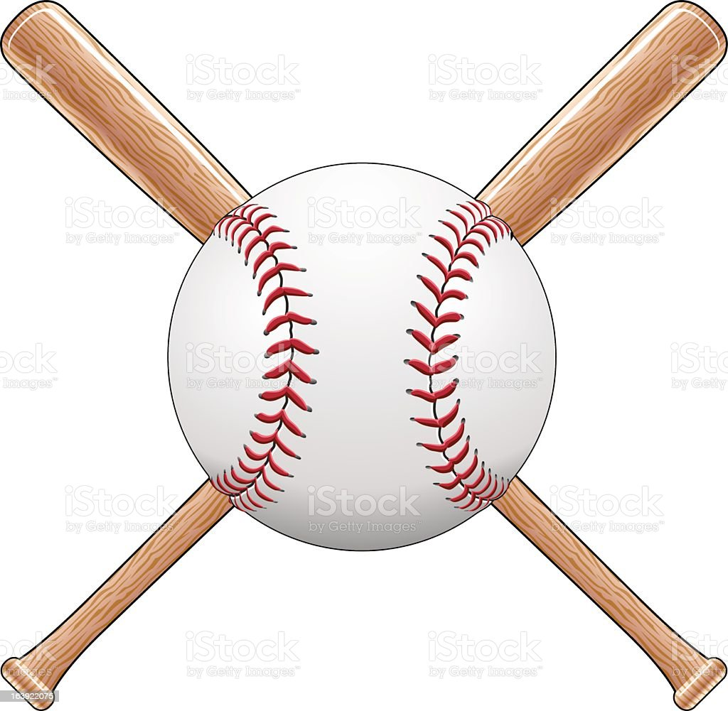 royalty free softball bat clip art vector images illustrations rh istockphoto com Baseball Player Clip Art Ball and Crossed Bats Baseball Clip Art