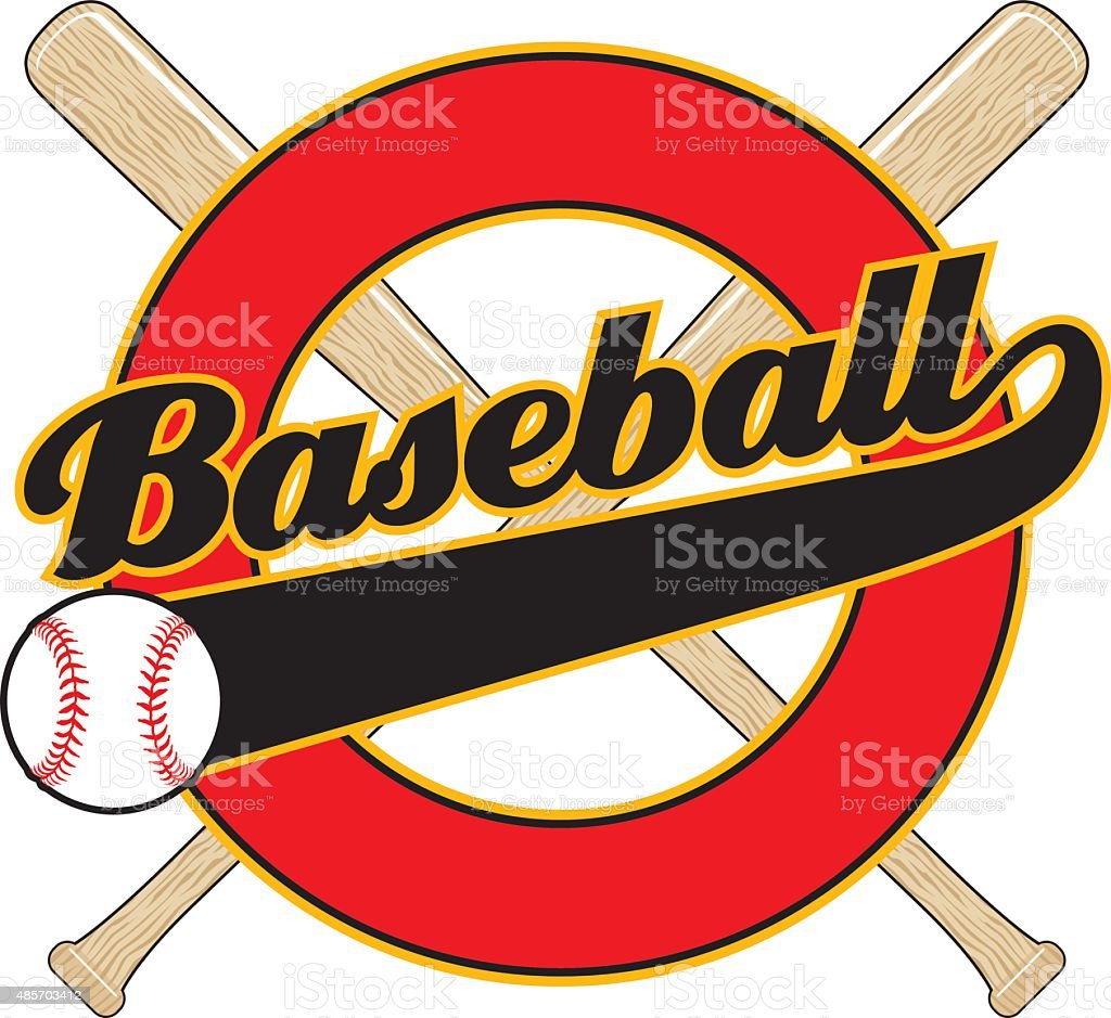 Baseball With Tail Banner vector art illustration