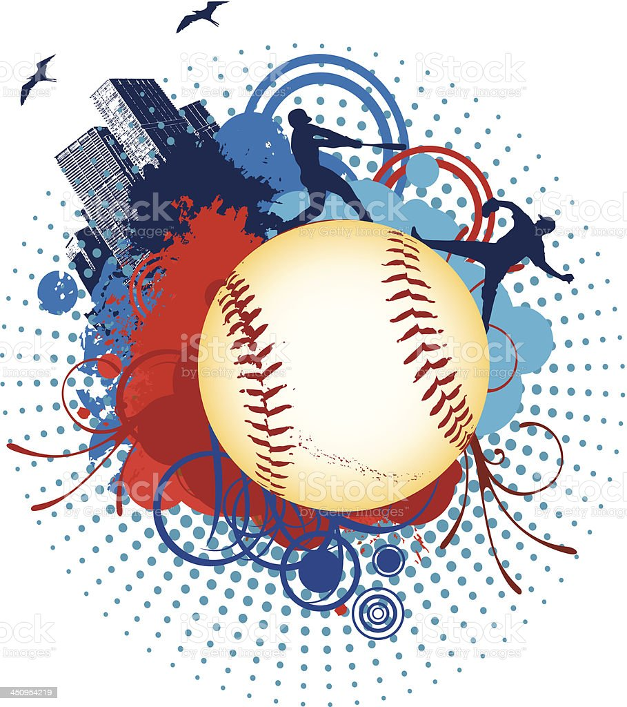 Baseball Wolrd royalty-free stock vector art
