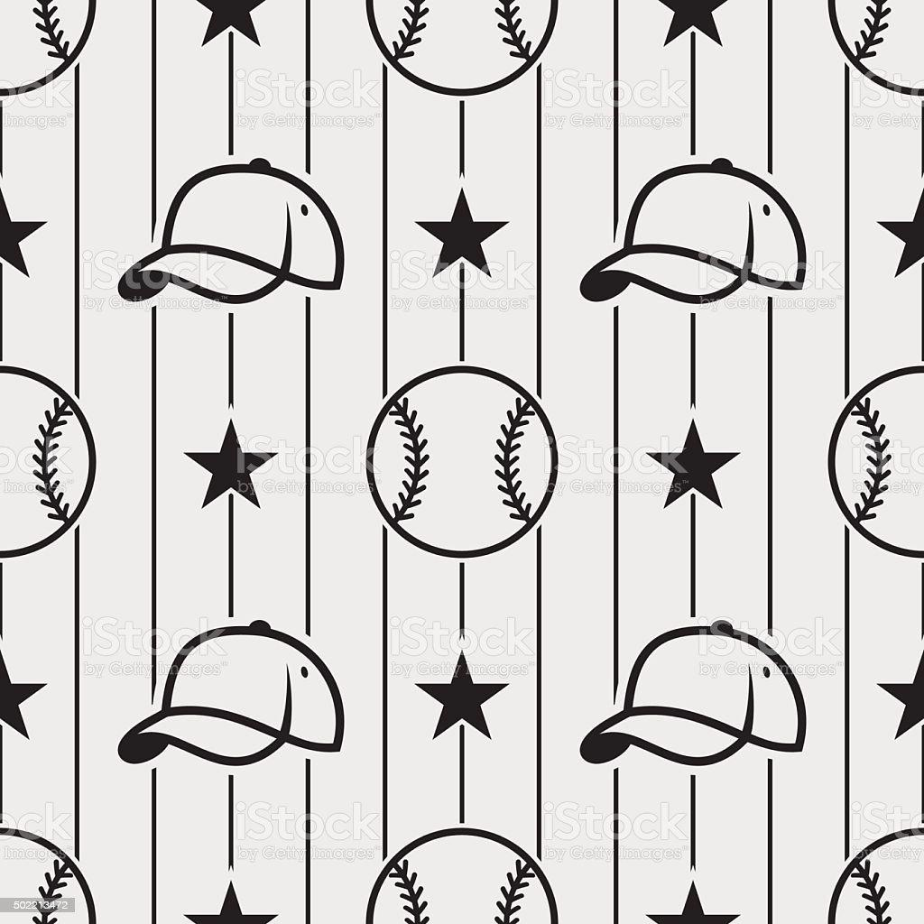 baseball_pattern4 vector art illustration
