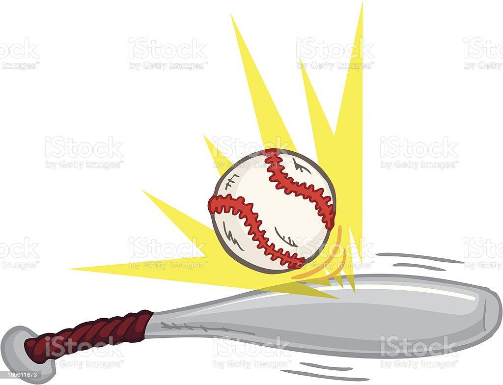 BaseballBatting vector art illustration