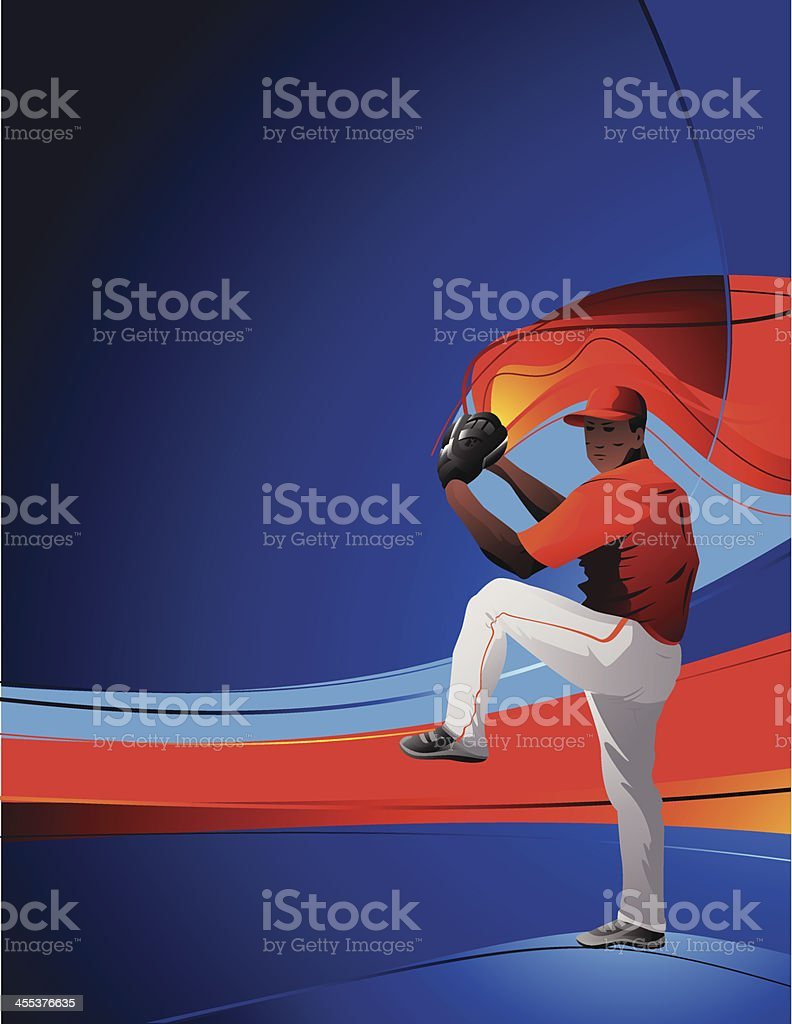 Baseballer vector art illustration