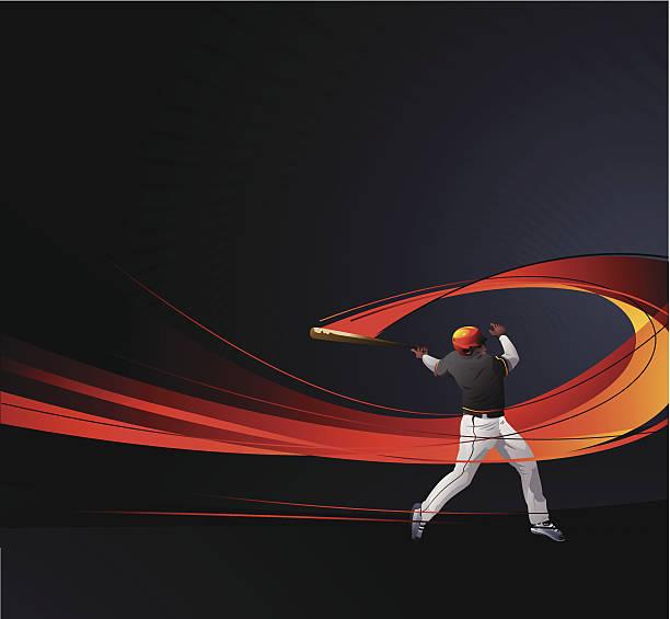 Baseballer vector art illustration