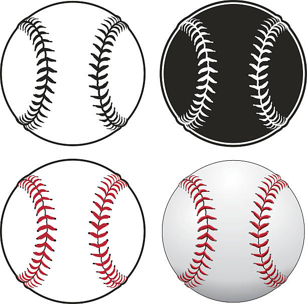 baseballs - softball stock illustrations, clip art, cartoons, & icons