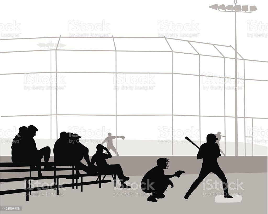 BaseballStance vector art illustration