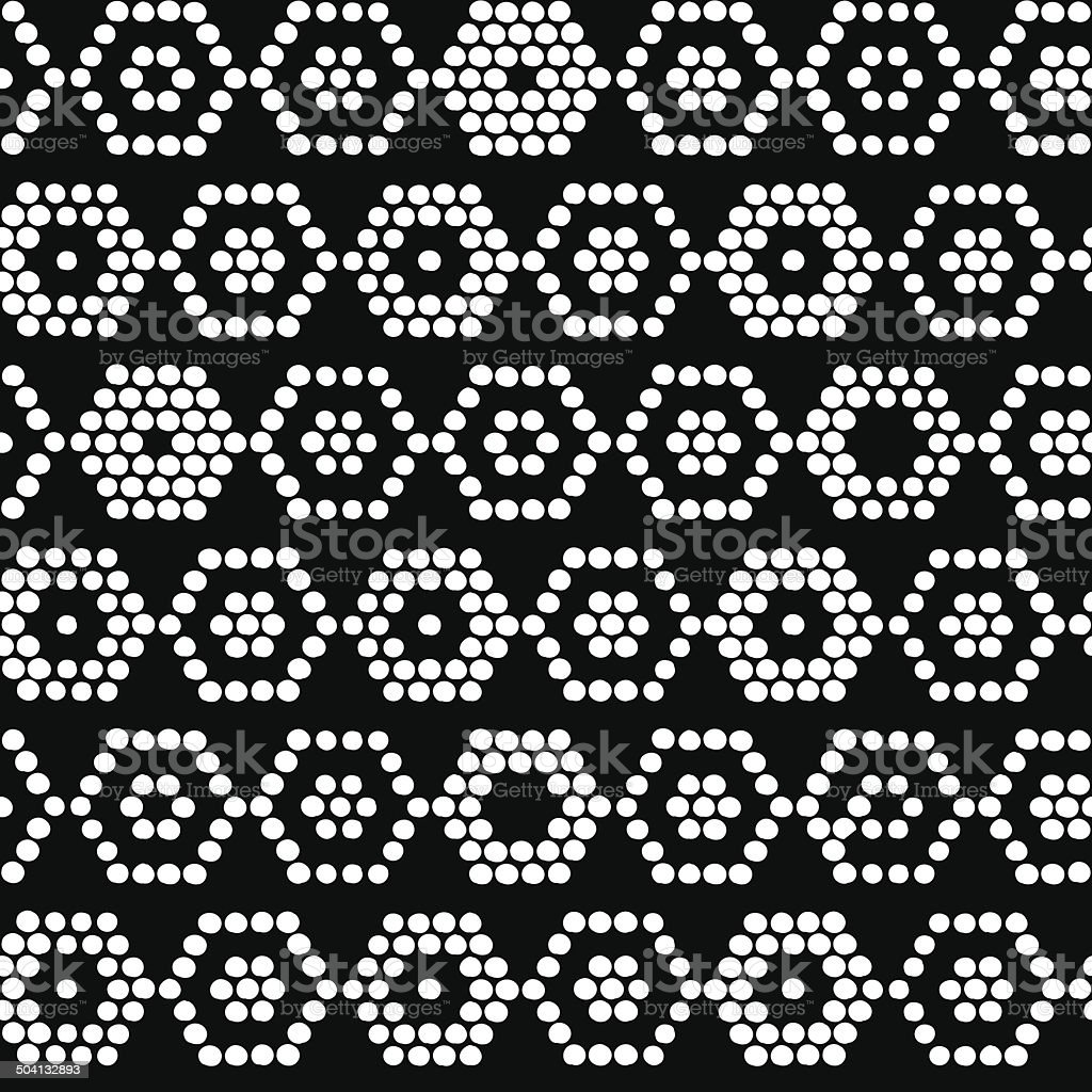 Based on Traditional Ethnic African Ornament. Seamless vector pattern. Monochrome. vector art illustration