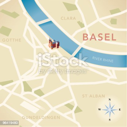istock Basel Map 96419480