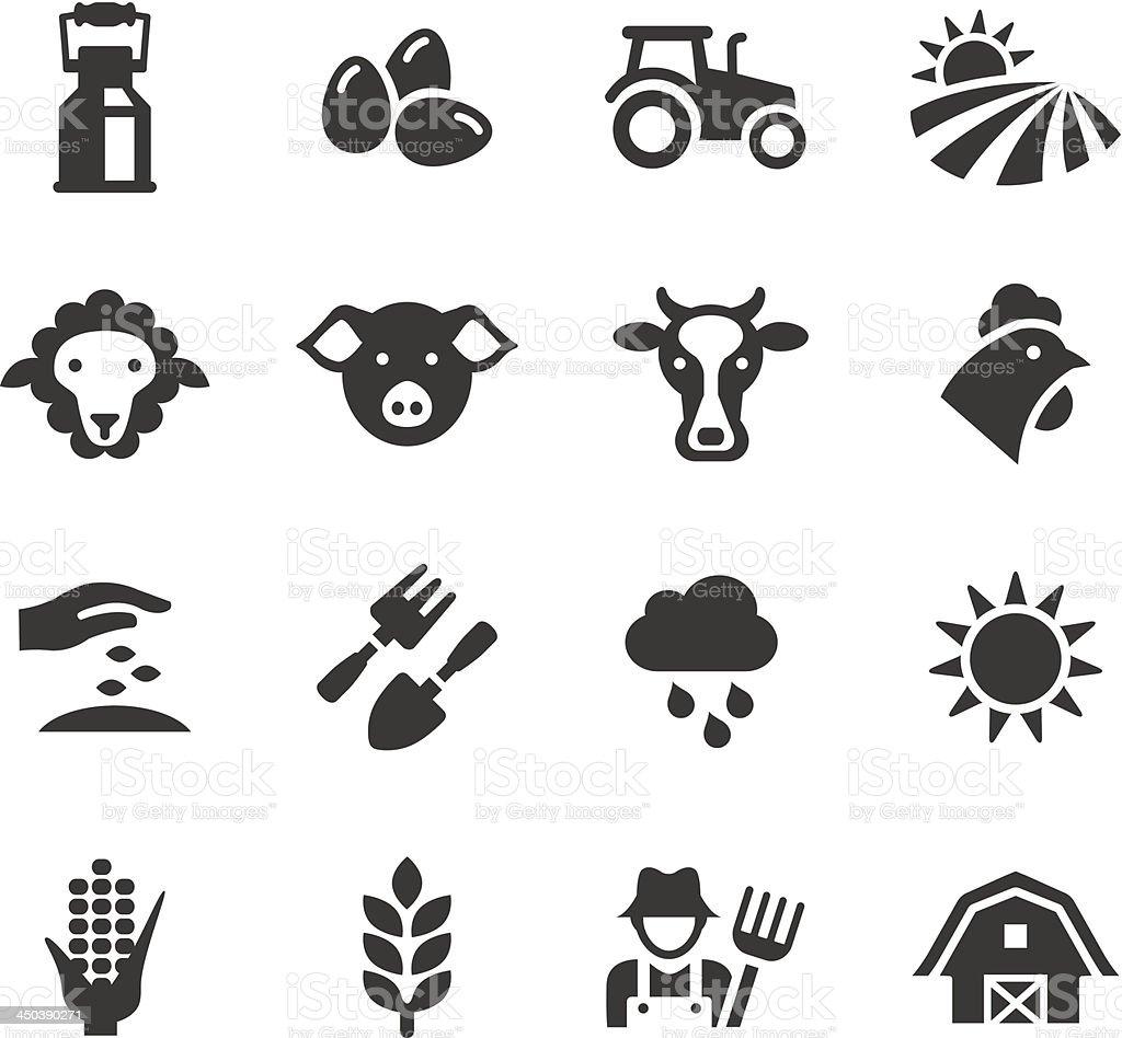 Basic-l'Agriculture et l'élevage des icônes - Illustration vectorielle